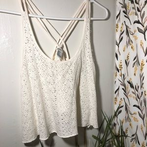 White Flowy Crop Top